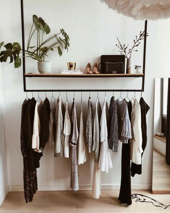 Um closet simples pode transformar sua decoração