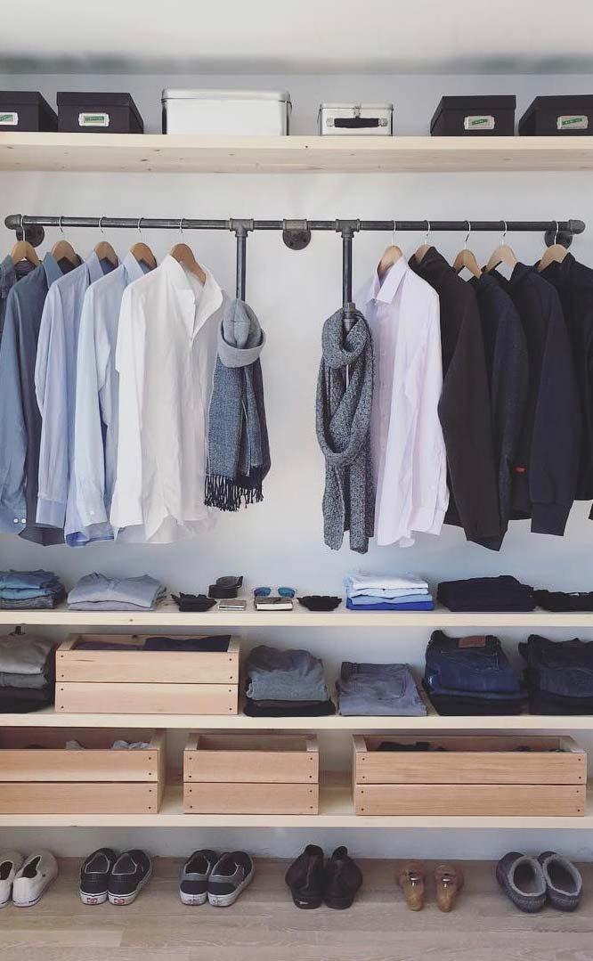 Deixe seu closet organizado