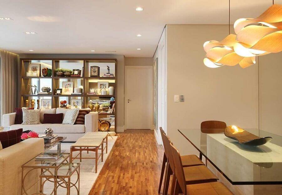 cor bege clara para apartamento com ambientes integrados Foto Pinterest