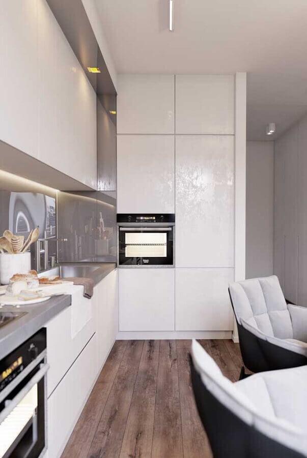 cores claras para cozinha planejada moderna Foto Home Fashion Trend