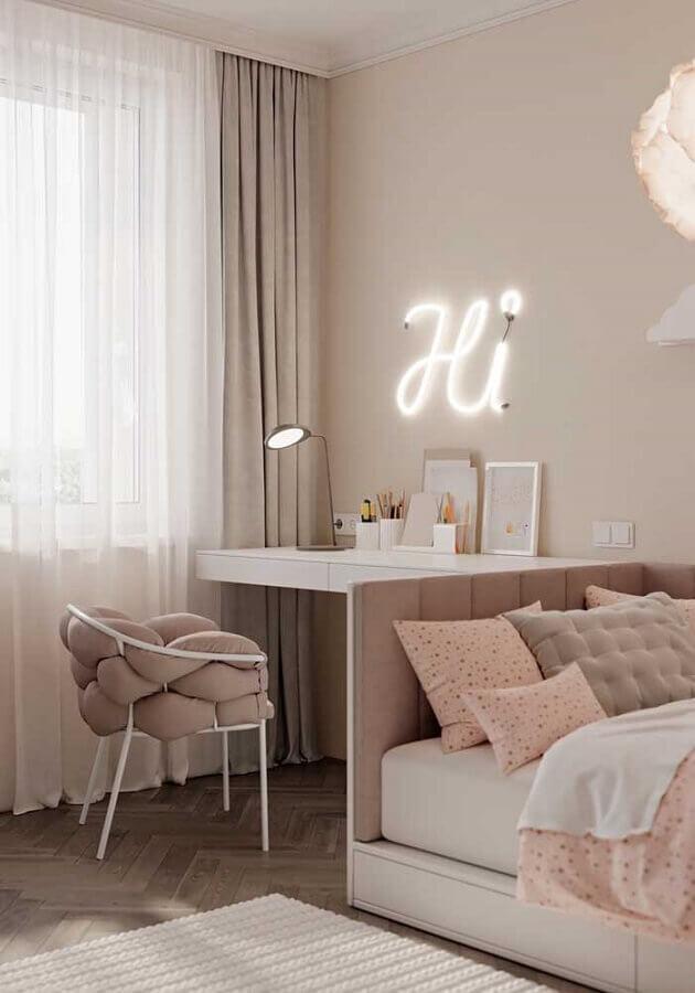 cores claras para quarto feminino planejado Foto Pinterest