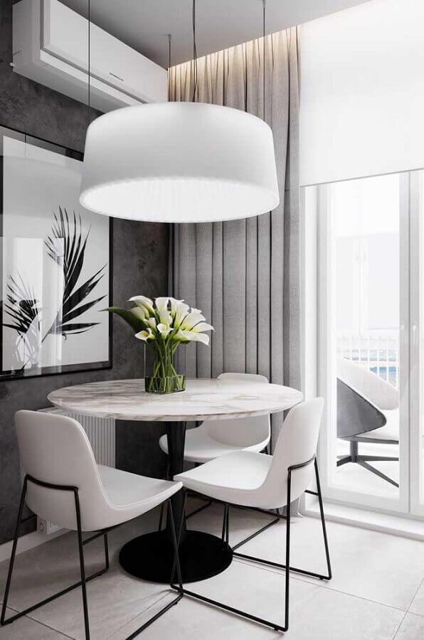 cores claras para sala de jantar moderna cinza e branca Foto Home Fashion Trend