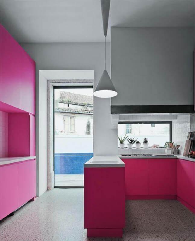 Cozinha rosa pink