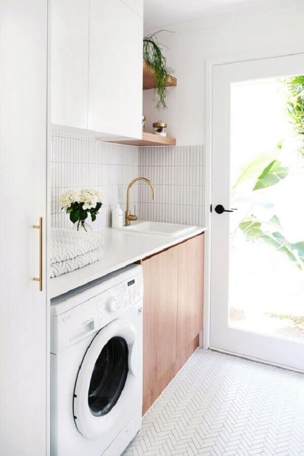 Decoração clean para lavandeira planejada