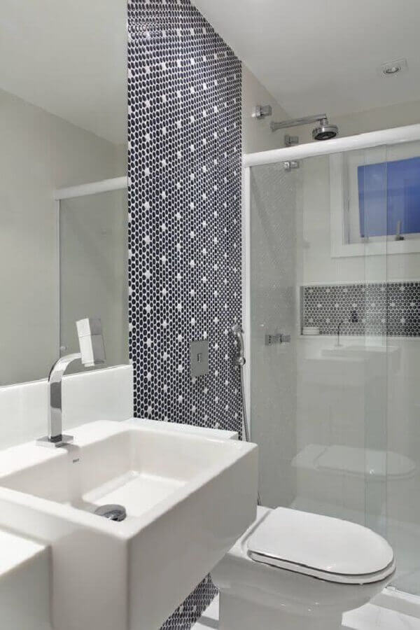 decoração de banheiro simples com pastilha Foto Pinterest