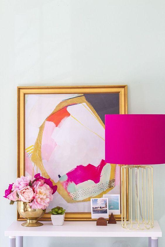 Enfeites para sala rosa pink