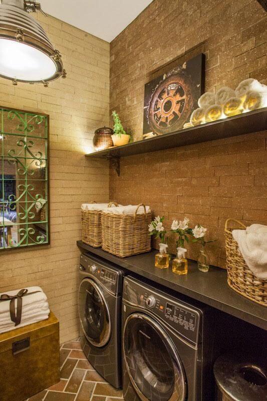 Decoração com lavanderia planejada moderna