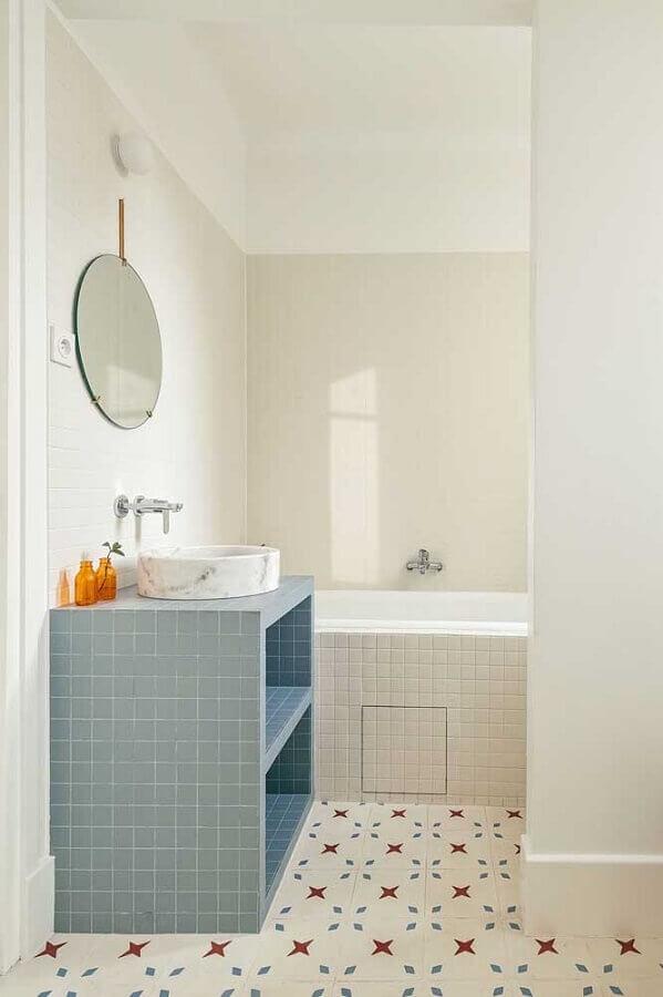 gabinete planejado cinza para pia de banheiro simples Foto Pinterest