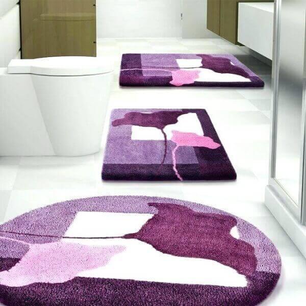Kit de tapete para banheiro criativo