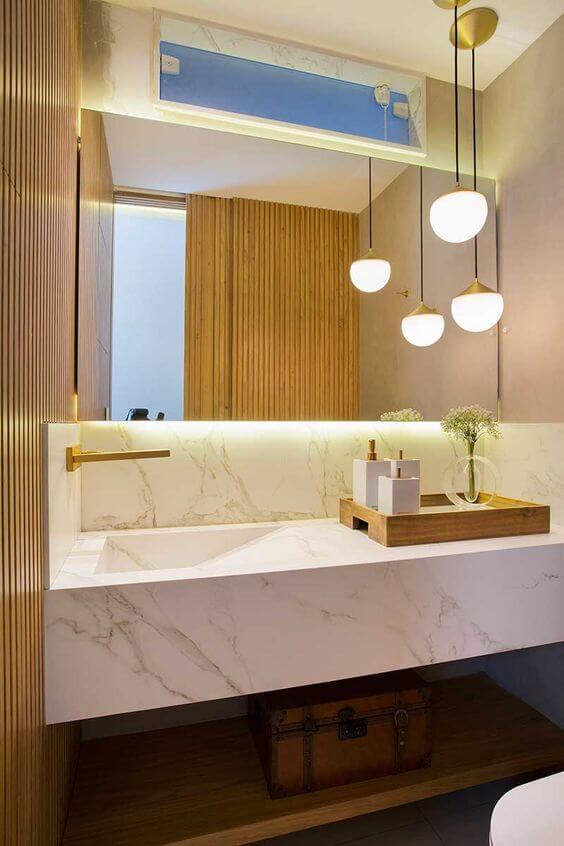Kit para banheiro iluminado e lindo