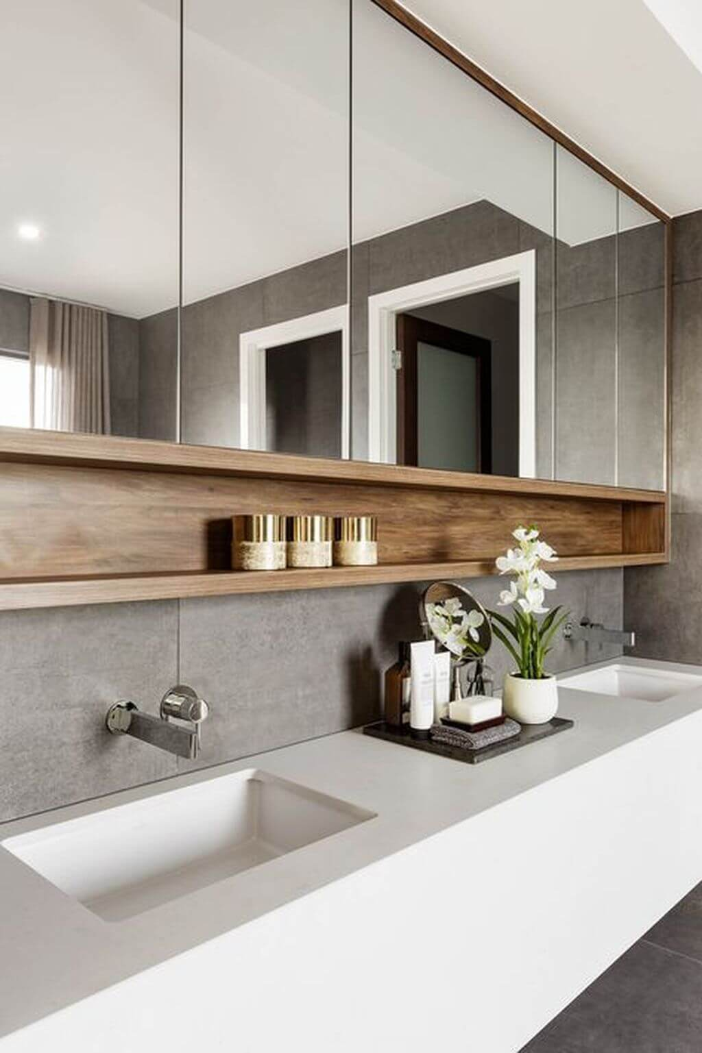 Kit para banheiro decorado branco