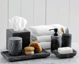 Kit para banheiro preto - Via: Pinterest