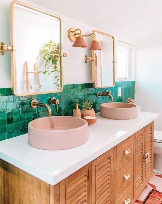 Kit para banheiro rose gold