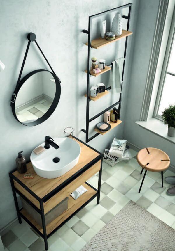Kit para banheiro com gabinete