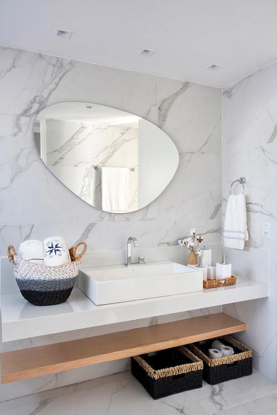 Kit para banheiro decorado