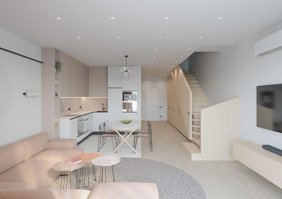 modelo de casa conceito aberto minimalista Foto Behance
