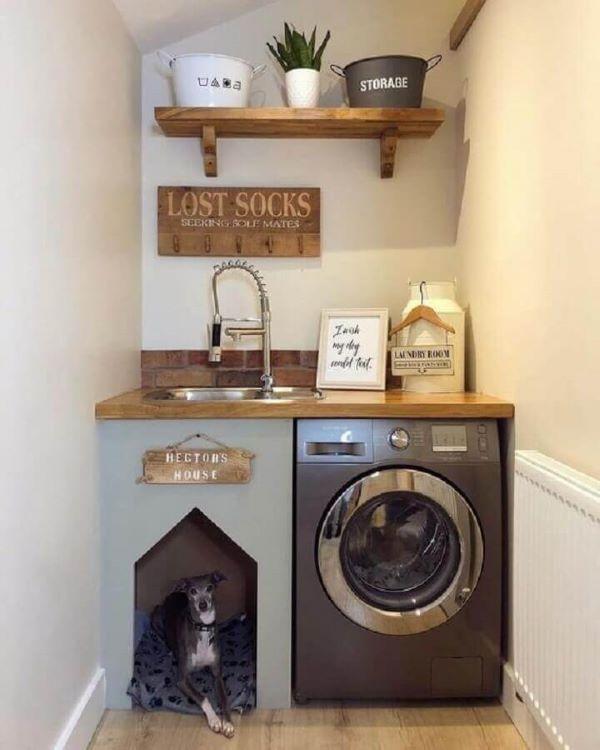 Lavanderia pequena simples