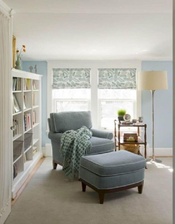 modelo de poltrona confortável para leitura com puff Foto Futurist Architecture