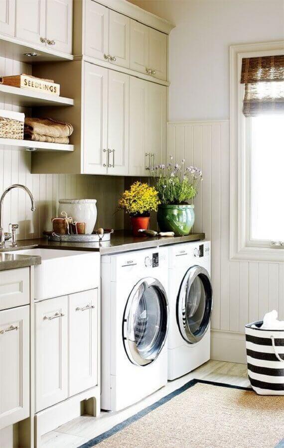 Área de serviço na lavandeira planejada