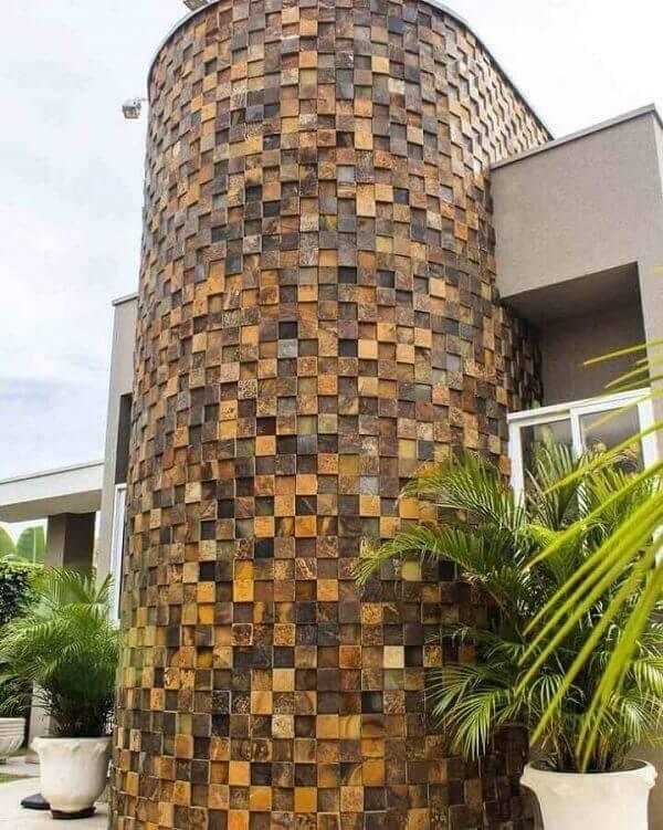 Muros bonitos com pedra ferro