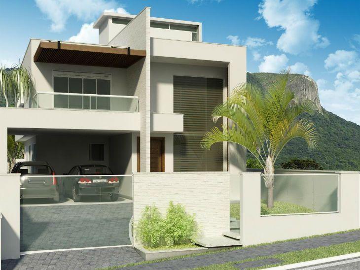 Casa moderna com muros bonitos