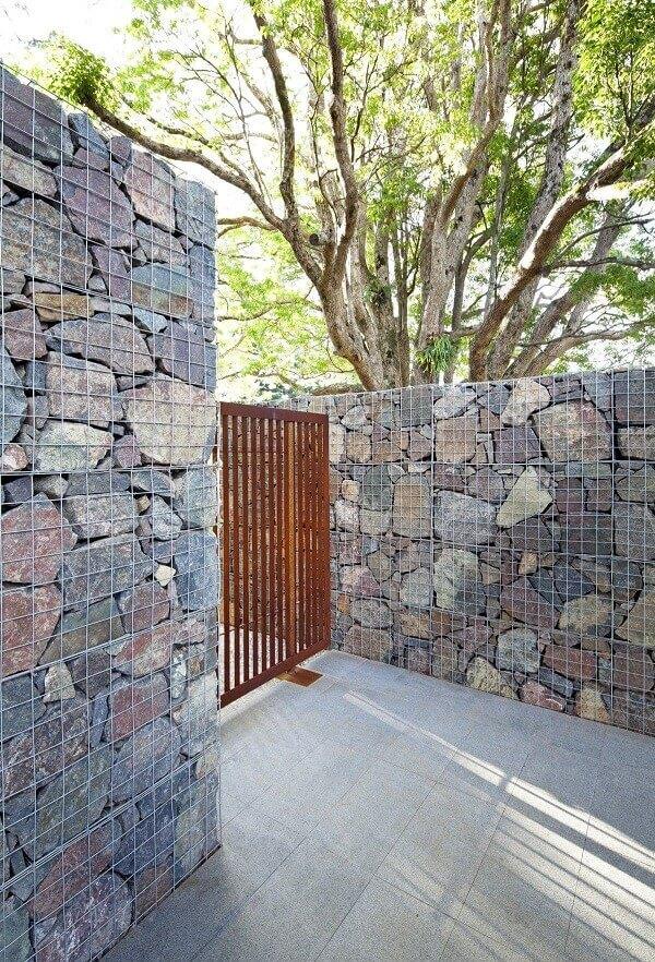 Muros bonitos de pedras para casa