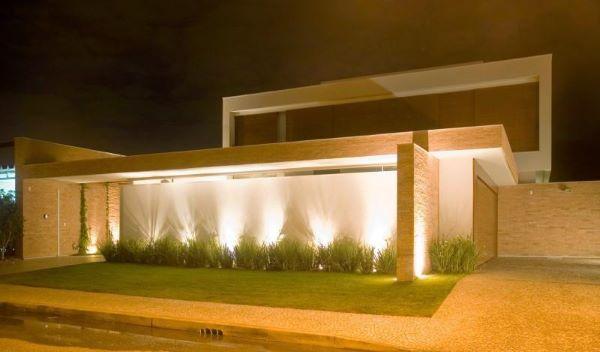 Muros bonitos com iluminação
