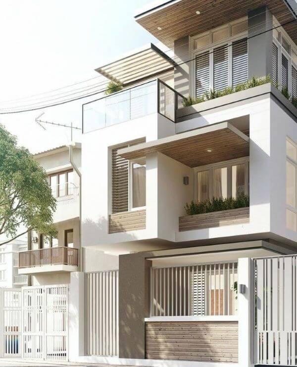 Casas com muros bonitos