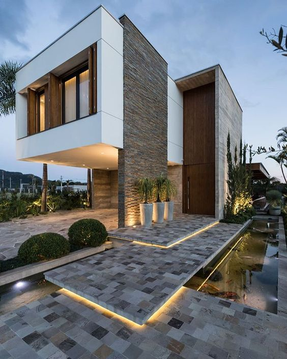 Muros bonitos para casa moderna