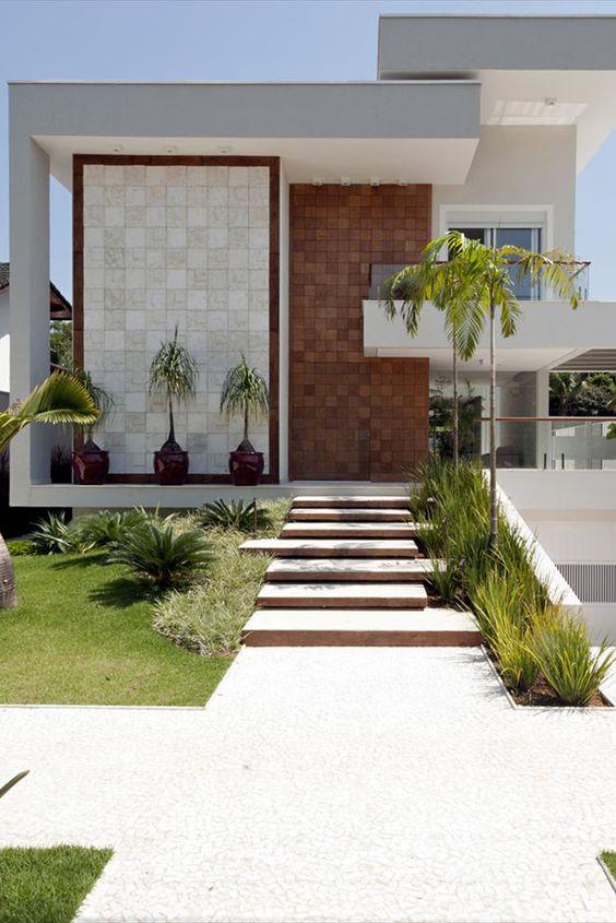 Casa com muro bonito