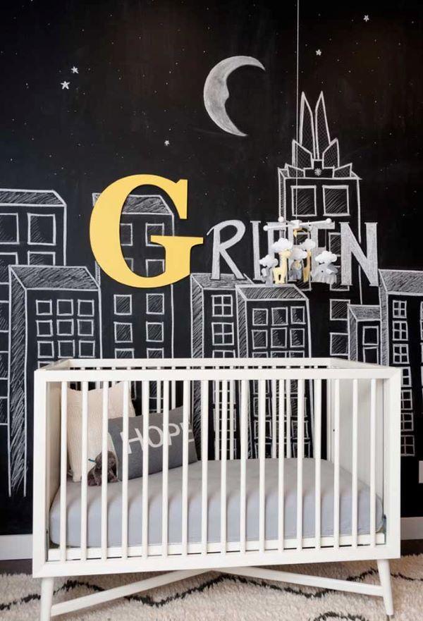 Papel de parede preto com efeito de lousa
