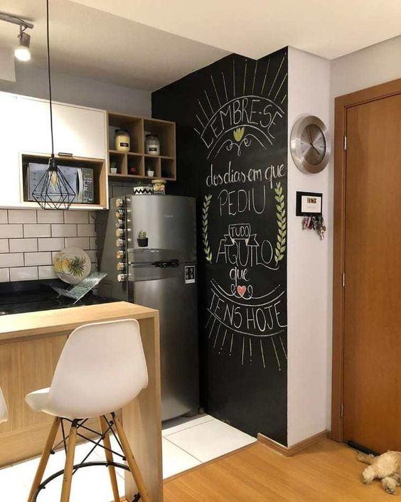 Papel de parede preto para cozinha