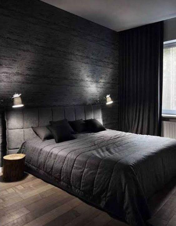 Papel de parede de tijolinho preto