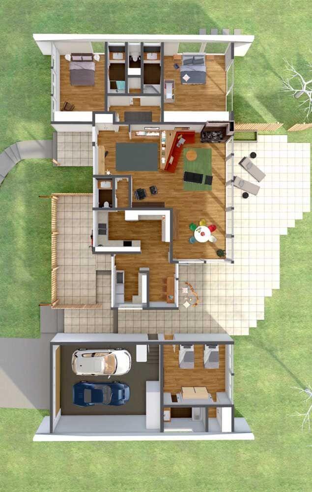 Casa sobrado 3D