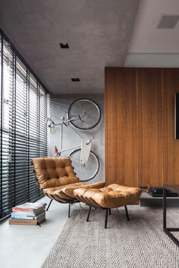 poltrona de couro para ambiente decorado com estilo industrial Foto Futurist Architecture