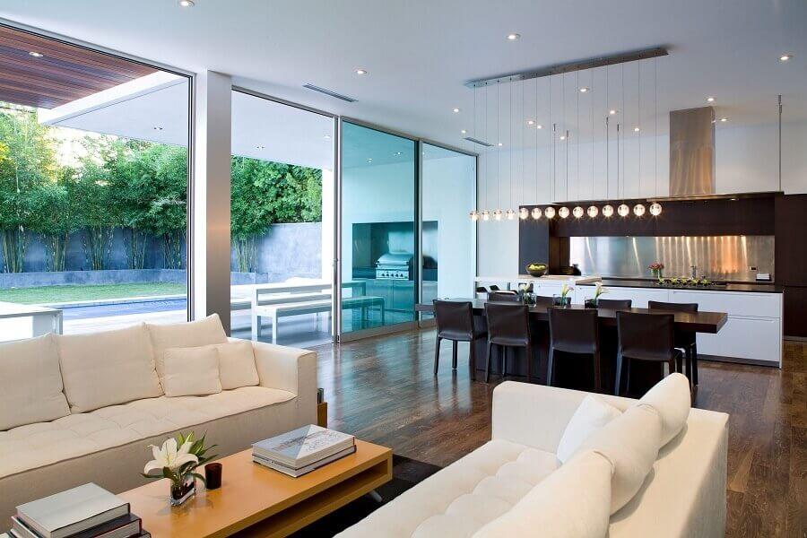 projeto de casa conceito aberto ampla e elegante Foto Pinterest