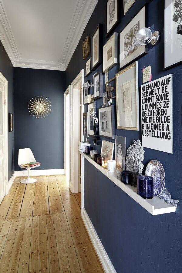 quadros decorativos para corredor azul e branco Foto Simples Decoração