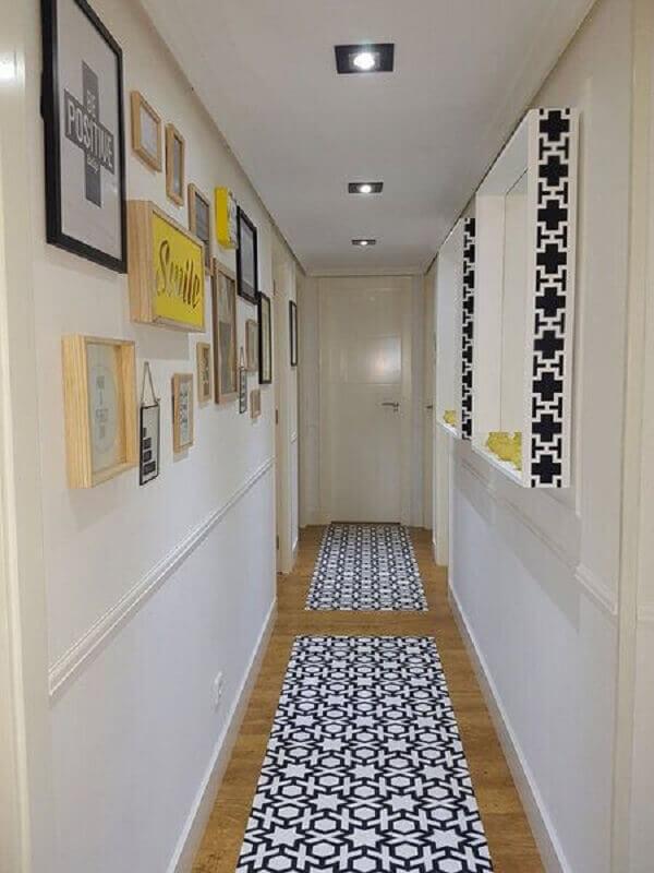 quadros decorativos para corredor simples Foto Micasa Revista