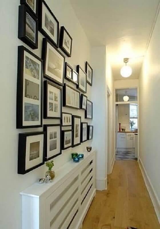 quadros decorativos para corredor todo branco  Foto Dicas Decoração