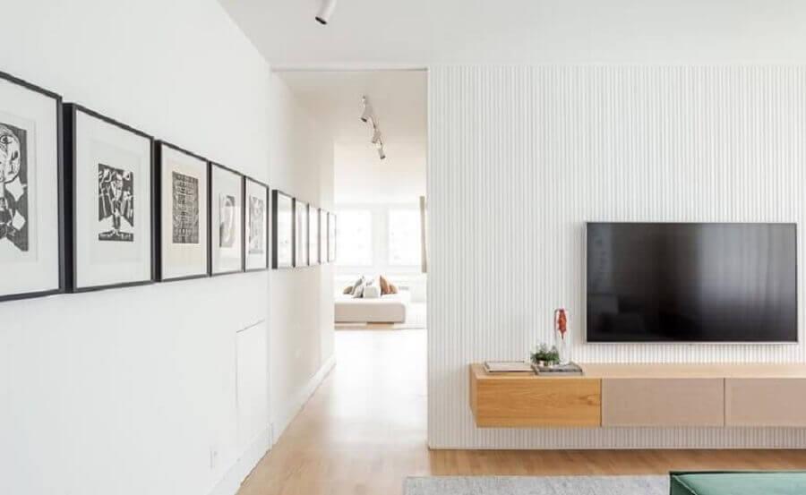 quadros para corredor de sala branca Foto Suite Arquitetos