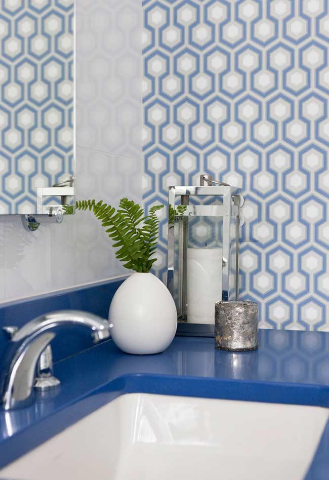 Use diferentes tons de azul para sua decoração