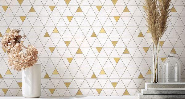 Revestimento para área gourmet em formato geométrico
