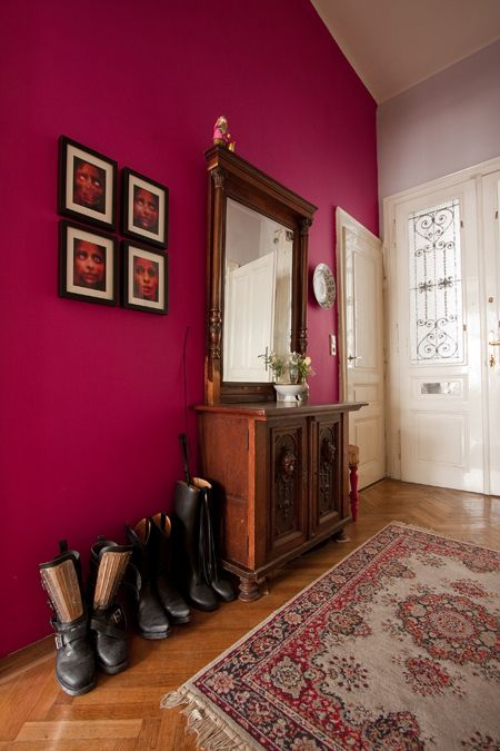 Rosa pink na parede