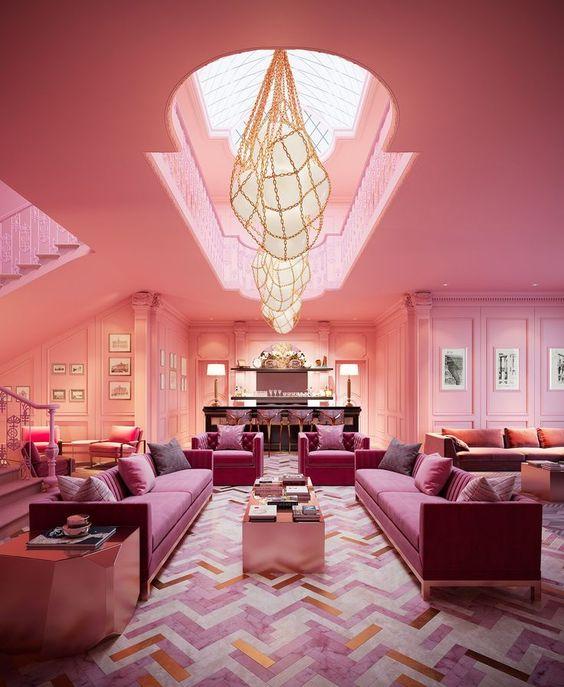 Sala rosa pink