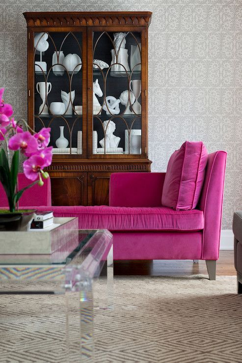 Sofá rosa pink