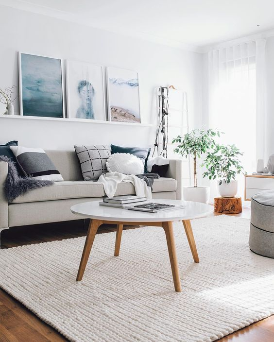 Tapete grande para sala de estar clean