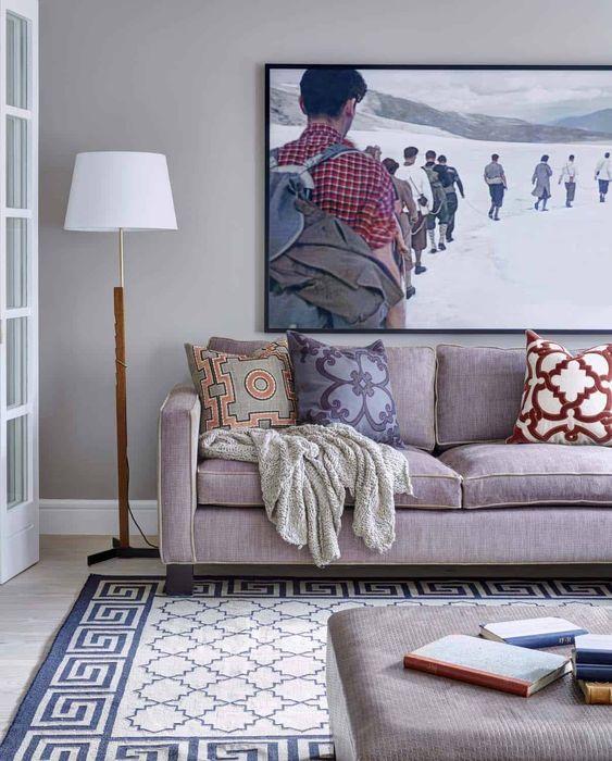 Tapete grande para sala de estar