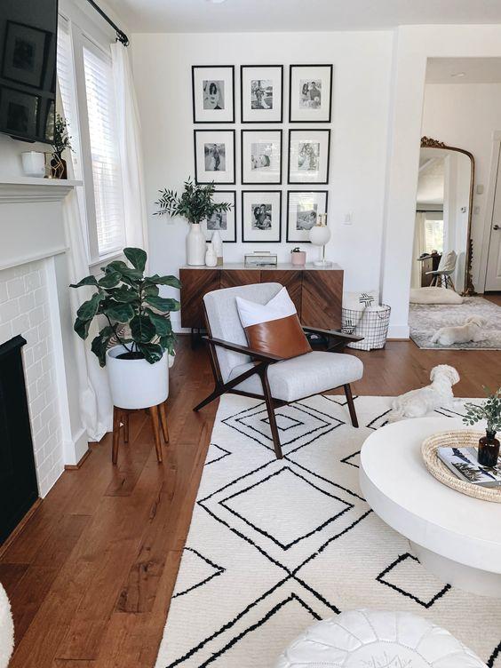 Tapete grande para sala de estar geométrico