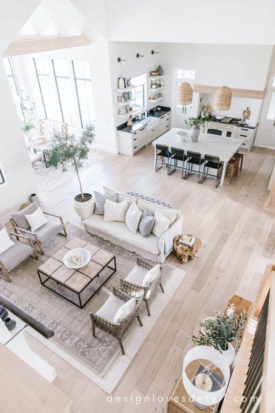 Tapete grande para sala de estar neutra