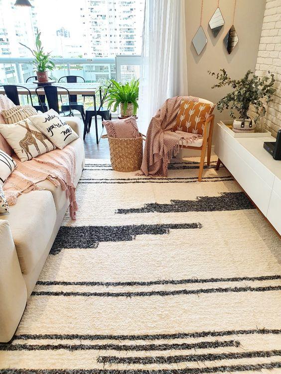 Tapete grande para sala moderna